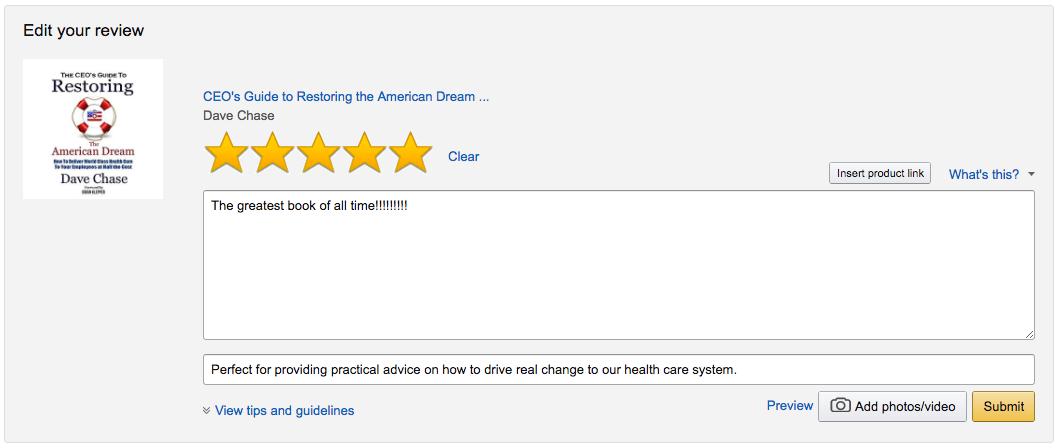 Amazon Reviews Guide - Health Rosetta